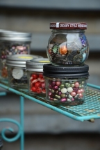 Glass Jars on Teal