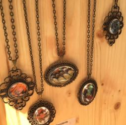 Lepidopteran Art necklaces